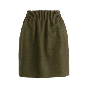 J.CREW Factory Linen Sidewalk Skirt Army Green 00